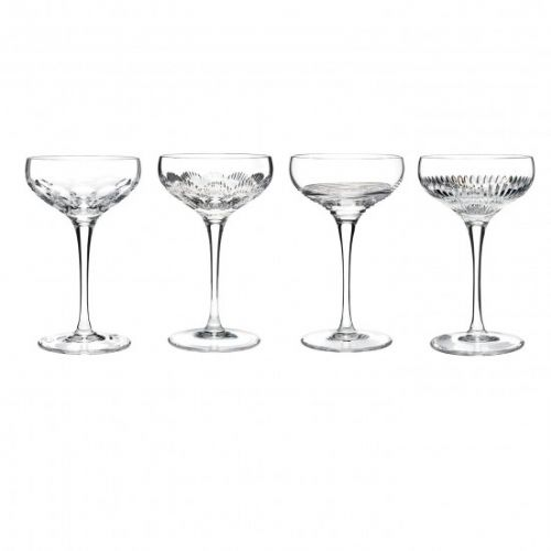 Waterford Mixology old fashioned Champagne Coupe Saucers